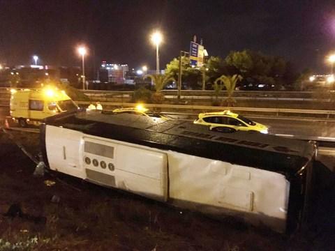 British and Irish nationals among tourists injured in Barcelona bus crash