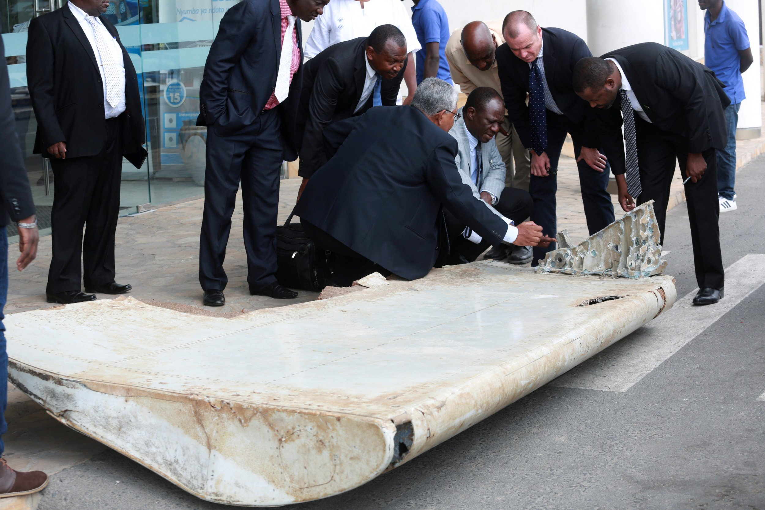A massive part of MH370's wing did wash up on a beach off Tanzania