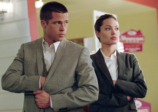 No Merchandising. Editorial Use Only. No Book Cover Usage. Mandatory Credit: Photo by Moviestore/REX/Shutterstock (1585997a) Mr And Mrs Smith, Brad Pitt, Angelina Jolie Film and Television