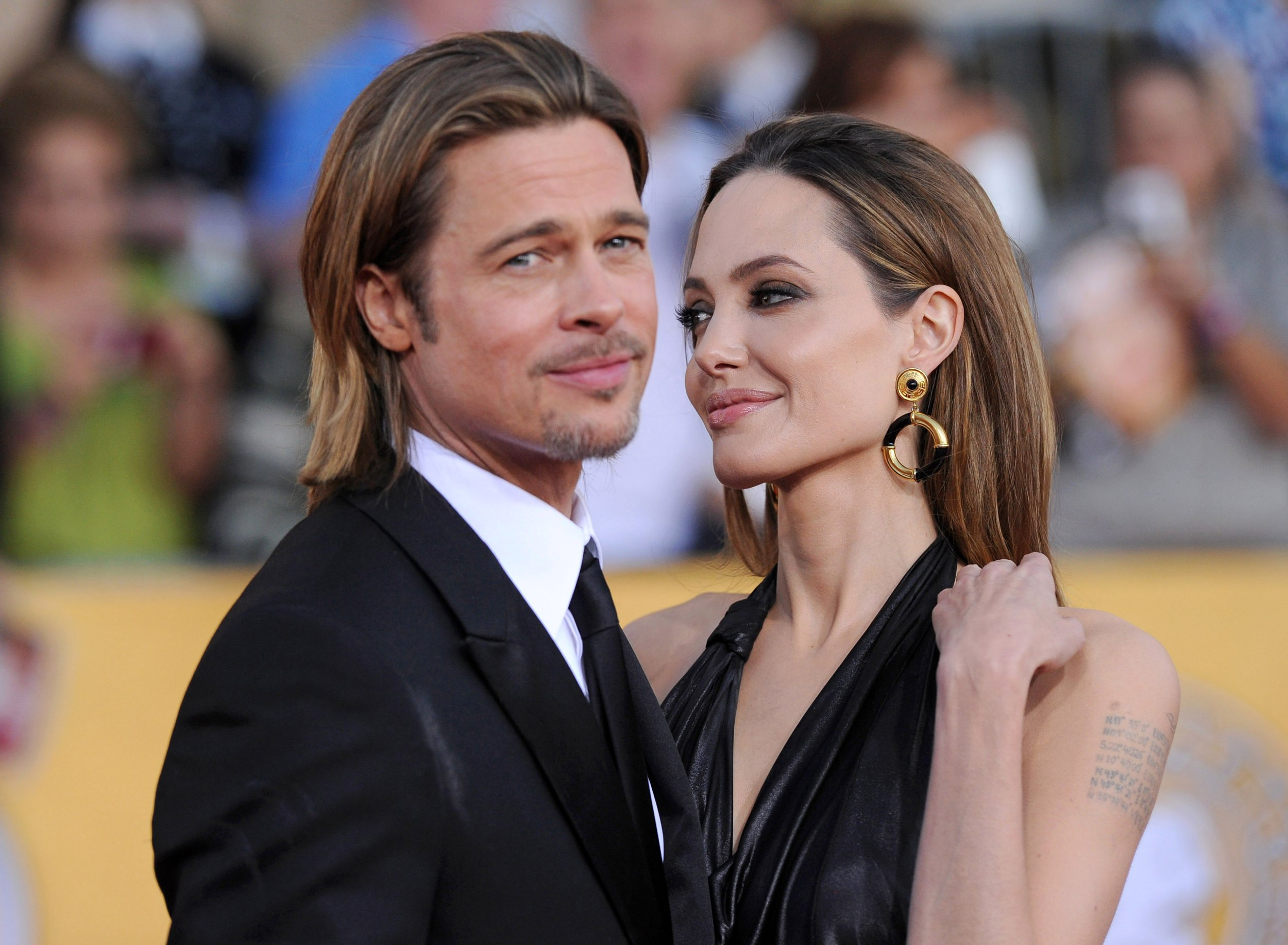 Angelina Jolie files for divorce from Brad Pitt. The actress cites irreconcilable differences as the reason for the split and is asking for physical custody of the couple's six children. ARCHIVE PICTURE: 18th Annual Screen Actors Guild Awards. Shrine Auditorium, Los Angeles, CA. January 29, 2012. Pictured: Angelina Jolie and Brad Pitt. Credit: Axelle/GoffPhotos.com Ref: KGC-300/120226A1 **UK, Middle East Sales Only** Credit: Axelle/BG/GoffPhotos.com Ref: KGC-300/120226A1 **UK, Spain, Italy, China, South Africa Sales Only**