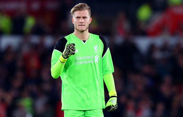 Liverpool goalkeeper Loris Karius celebrates his sides opening goal during the EFL Cup Third Round match between Derby County and Liverpool played at the iPro Stadium, Derby on 20th September 2016