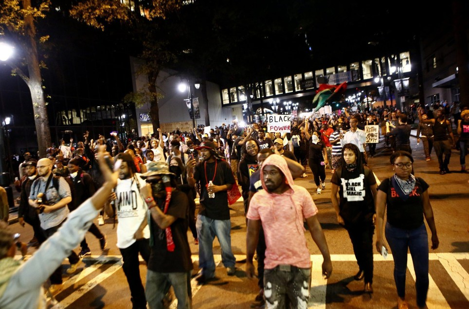 Charlotte shooting: Images from protests as state of