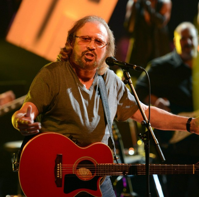 Editorial Use Only / Consent for book publication must be agreed with Rex Features before use Mandatory Credit: Photo by REX/Shutterstock (6030586ai) Barry Gibb 'Later With Jools Holland' TV show, Maidstone, UK - 27 Sep 2016 Series 49 Prog 3