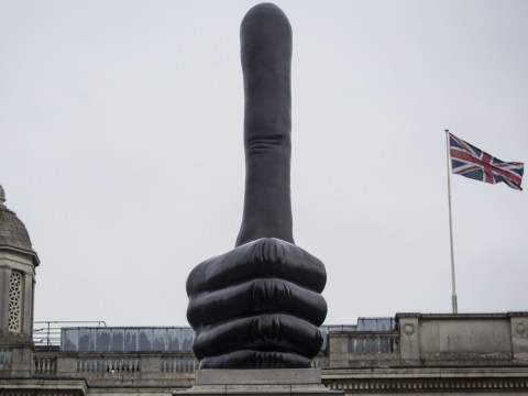 Thumb or penis? Fourth Plinth divides opinion as new David Shrigley piece is unveiled