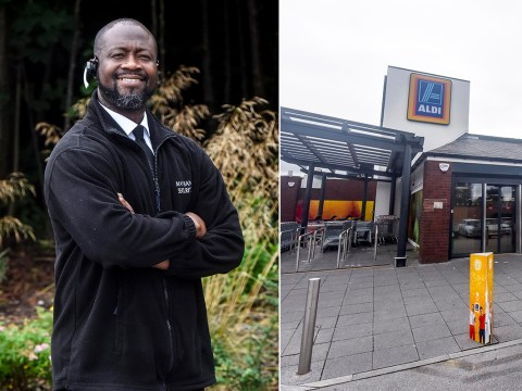Elderly Aldi shopper couldn't afford his shopping so security guard stepped in
