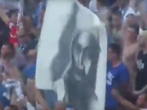 German football fans unveil Osama Bin Laden banner amid anniversary of 9/11 terrorist attacks