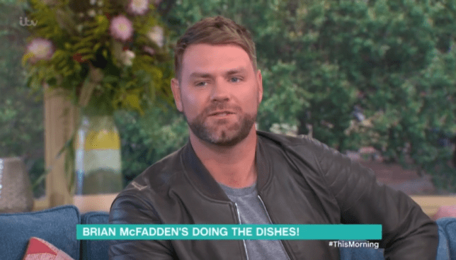 Brian McFadden was on This Morning (Picture: ITV)