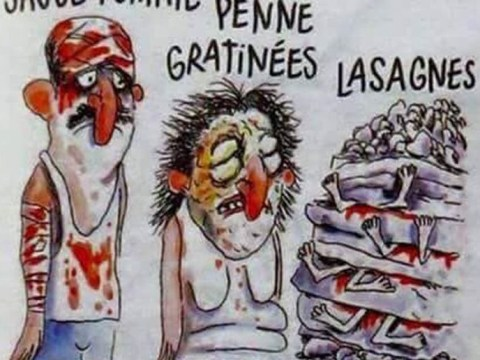 Charlie Hebdo sparks outrage by drawing Italian earthquake victims as lasagne