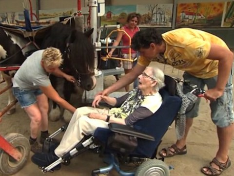 Horse lover gets to ride horse for one final time as her dying wish is granted