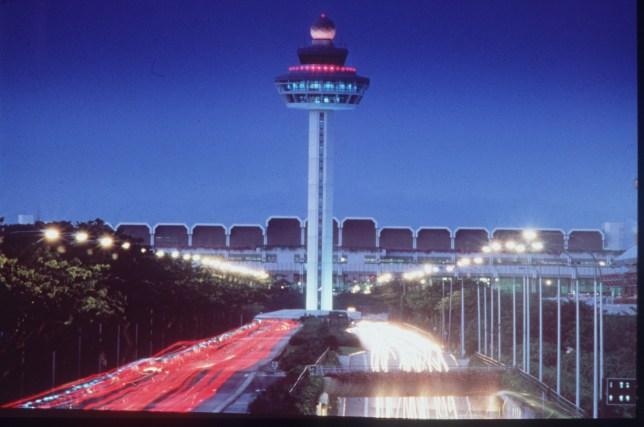 Changi control tower Singapore Airport. FREE USE