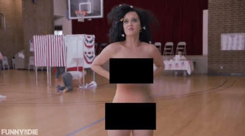 Katy Perry strips naked in the name of politics for the upcoming US presidential election