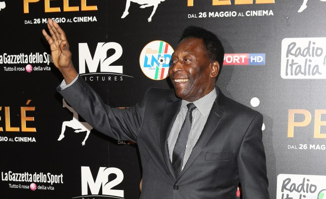 MILAN, ITALY - MAY 26: Edson Arantes do Nascimento aka Pele attends the 'Pele' Red Carpet In Milan on May 26, 2016 in Milan, Italy. (Photo by Vincenzo Lombardo/Getty Images)