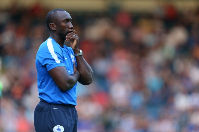 HIGH WYCOMBE, ENGLAND - JULY 22: Jimmy Floyd Hasselbaink manager of Queens Park Rangers during the Pre-Season Friendly match between Wycombe Wanderers and Queens Park Rangers at Adams Park on July 22, 2016 in High Wycombe, England. (Photo by Catherine Ivill - AMA/Getty Images)