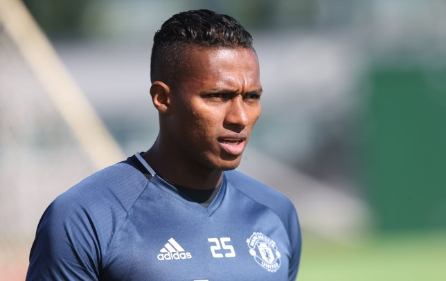 MANCHESTER, ENGLAND - AUGUST 23: (EXCLUSIVE COVERAGE) Antonio Valencia of Manchester United in action during a first team training session at Aon Training Complex on August 23, 2016 in Manchester, England. (Photo by John Peters/Man Utd via Getty Images)