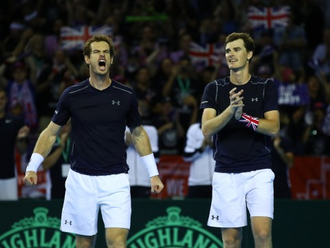 Andy and Jamie Murray keep Britain's Davis Cup hopes alive with doubles win