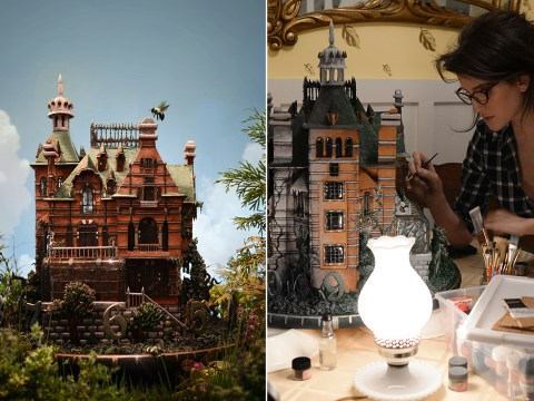 Artist creates incr-edible gingerbread house replica from Tim Burton's latest film