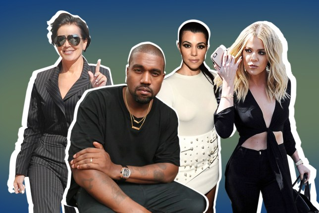 pics- rex Kanye West 'disappointed' by lack of Kardashian support at fashion show