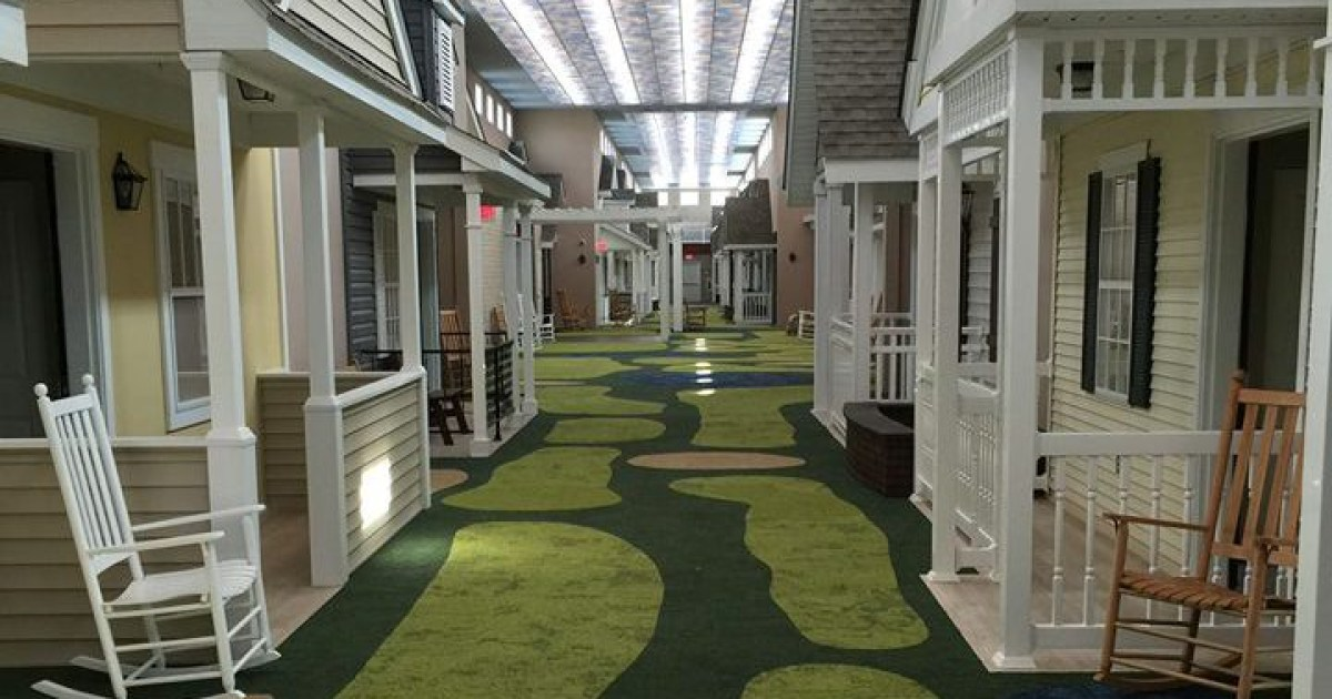 Cosy nursing home has been designed to look like a neighbourhood from the 40s