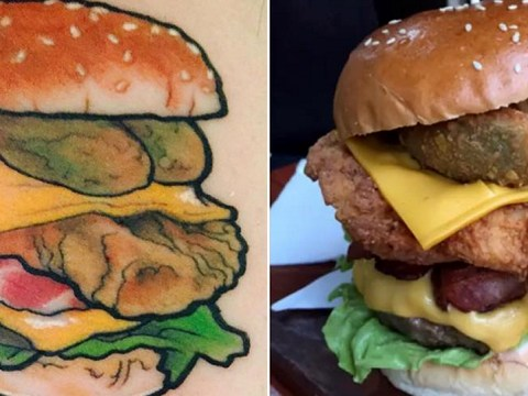 Café offering free burgers for life – if you get a life-size tattoo of one of their burgers