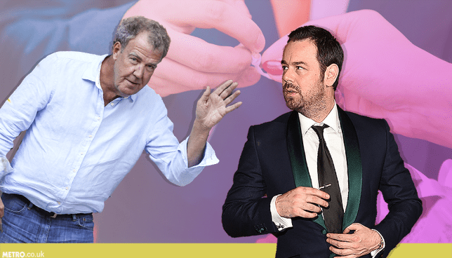 Danny dyer and Jeremy Clarkson comp Picture: REX Features / Getty