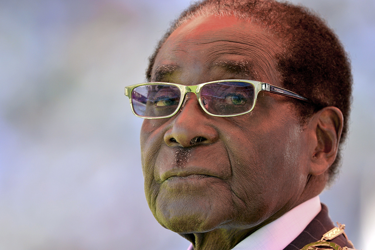 Mugabe unveils statue of himself and it looks like a Simpsons character