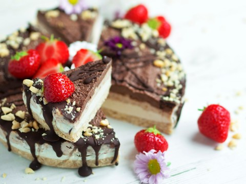 Vegan, gluten and dairy-free raw peanut butter chocolate cheesecake recipe
