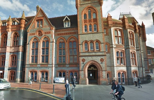 Reading Town Hall heard that she used candles to summon her imaginary boyfriend (Picture: Google Street View)