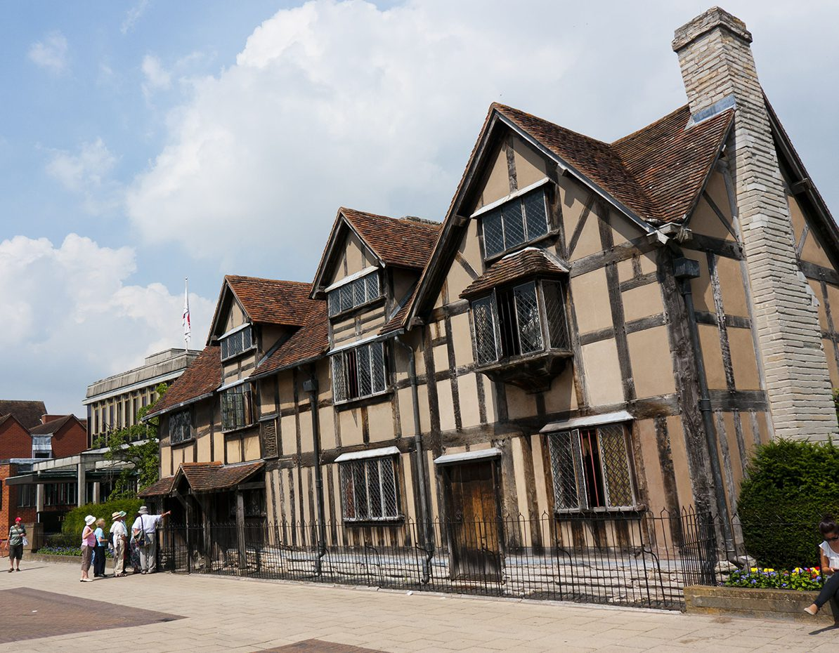 Mandatory Credit: Photo by David Pearson/REX/Shutterstock (1966585a) The birthplace of William Shakespeare in Stratford upon Avon, England, Britain Stratford upon Avon, Warwickshire, Britain - 28 Sep 2012