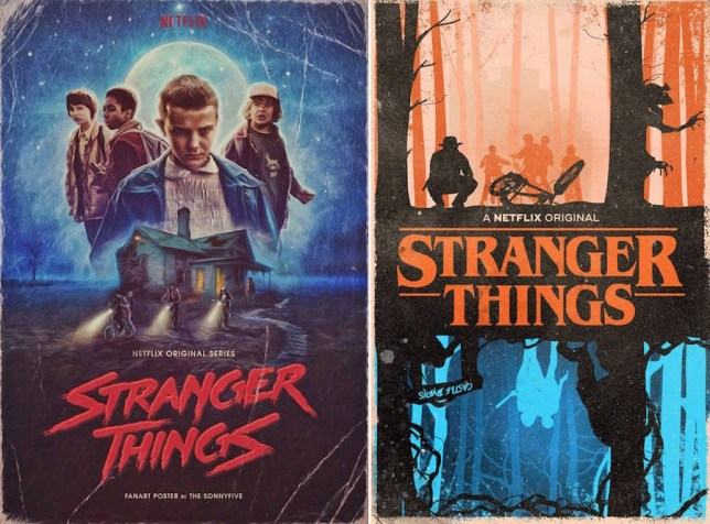 Stranger Things fan art posters have seriously stepped up their game (Pictures via Tumblr)