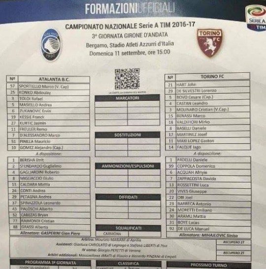 Fiori 24 Ore Torino.Joe Hart Debut For Torino Marred When His Name Is Printed