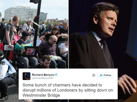 Tory MP calls wheelchair-bound protesters 'bunch of charmers sitting down'