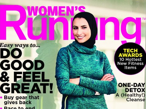 Women's Running featured a woman wearing a hijab on its cover for the first time ever