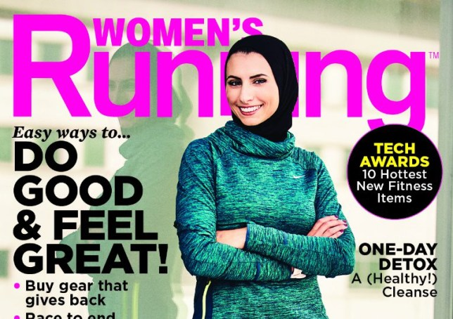 womens running features a woman in a hijab on the cover for the first time ever