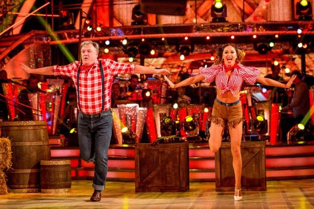 WARNING: Embargoed for publication until 20:25:01 on 01/10/2016 - Programme Name: Strictly Come Dancing 2016 - TX: 01/10/2016 - Episode: n/a (No. n/a) - Picture Shows: ++DRESS REHEARSAL++ *STRICTLY NOT FOR PUBLICATION UNTIL 20:25HRS, SATURDAY 1ST OCTOBER, 2016* Katya Jones, Ed Balls MP - (C) BBC - Photographer: Guy Levy