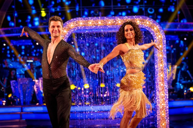 Programme Name: Strictly Come Dancing 2016 - TX: 01/10/2016 - Episode: n/a (No. n/a) - Picture Shows: ++LIVE SHOW++ Pasha Kovalev, Naga Munchetty - (C) BBC - Photographer: Guy Levy