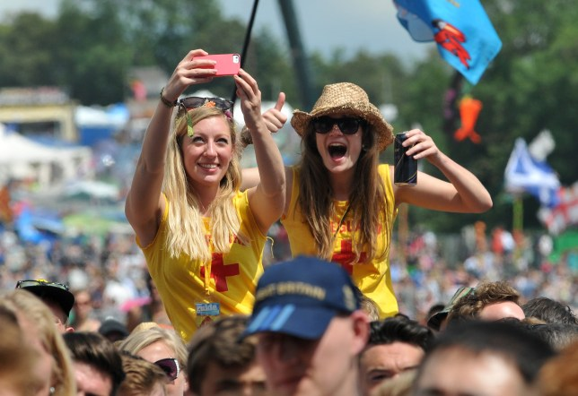 Revellers at Glastonbury in 2016 (Picture: Getty)