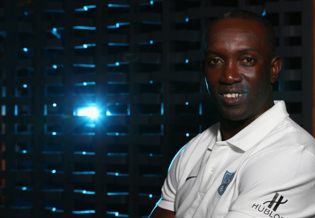BANGKOK, THAILAND - DECEMBER 05: Dwight Yorke poses during a Global Legends Series portrait session at the Swissotel on December 5, 2014 in Bangkok, Thailand. (Photo by Robert Cianflone/Getty Images)