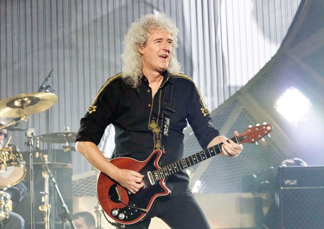 BERLIN, GERMANY - FEBRUARY 04: Brian May of Queen performs live during a concert at the O2 World on February 4, 2015 in Berlin, Germany. (Photo by Frank Hoensch/Redferns via Getty Images)