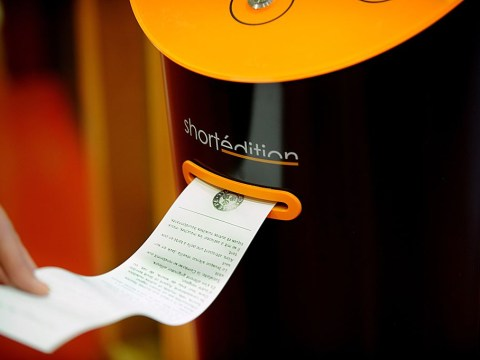 French train stations now have vending machines that dispense short stories to entertain you while you wait