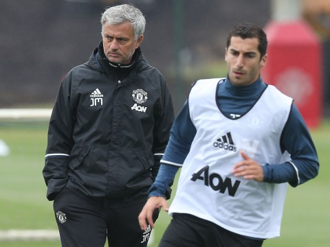 Manchester United outcast Henrikh Mkhitaryan eats his breakfast at Carrington, but Jose Mourinho is still not convinced