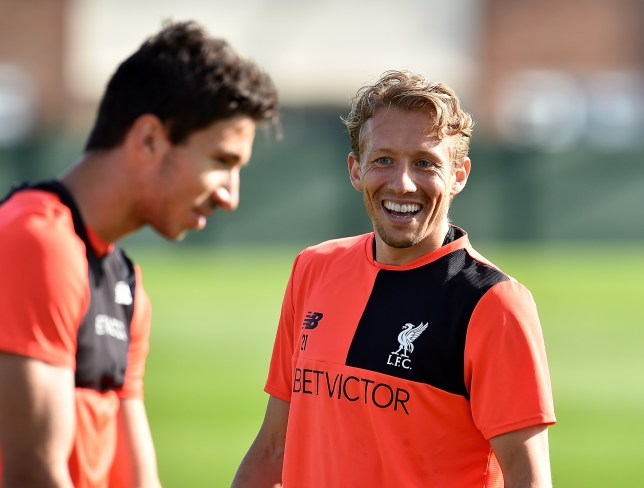 LIVERPOOL, ENGLAND - SEPTEMBER 22: (THE SUN OUT, THE SUN ON SUNDAY OUT) Lucas Leiva of Liverpool during a training session at Melwood Training Ground on September 22, 2016 in Liverpool, England. (Photo by Andrew Powell/Liverpool FC via Getty Images)
