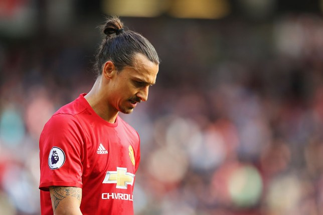 MANCHESTER, ENGLAND - OCTOBER 02: Zlatan Ibrahimovic of Manchester United walks in at half time during the Premier League match between Manchester United and Stoke City at Old Trafford on October 2, 2016 in Manchester, England. (Photo by Richard Heathcote/Getty Images)