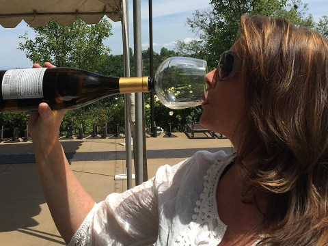 There's now a wine glass that attaches to the bottle so you can drink even quicker