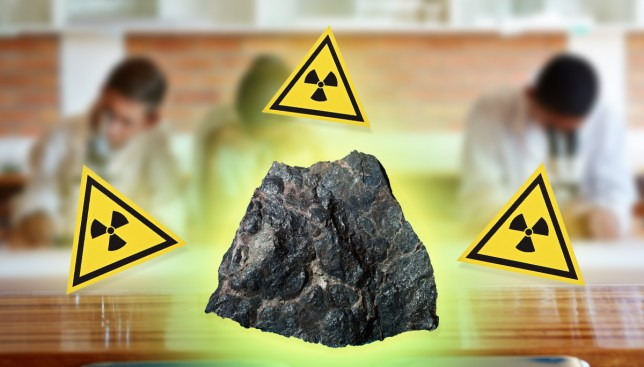 Pupils evacuated after rock in classroom turned out to be radioactive uranium Credit: Getty Images
