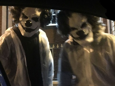 'Killer clowns' with machetes stalk streets of Manchester