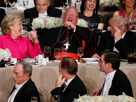 Donald Trump and Hillary Clinton share some top bants at charity dinner