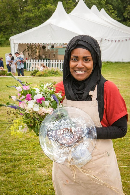 Television programme: The Great British Bake Off with Nadiya Hussain, winner of The Great British Bake Off. (C) Love Productions - Photographer: Mark Bourdillon