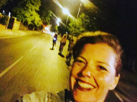 Mother's selfie moments before she fell off her bike and died