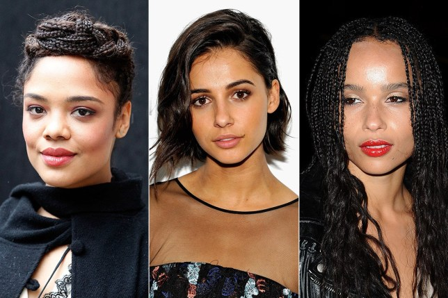 Han Solo Star Wars spin-off: female lead shortlist revealed pic: (left to right) Tessa Thompson, Naomi Scott and Zoë Kravitz . credit: Getty Images
