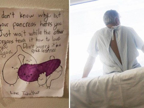 Dad proves his daughter will always come first, even when he's sick in hospital